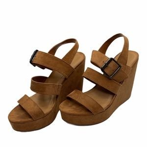 Mossimo Supply Co. Womens Camel/Tan Strap Wedges